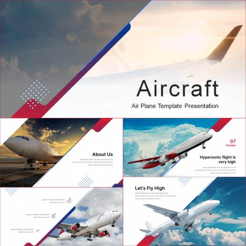 Aircraft Presentation: Powerpoint, Keynote, Google Slides.