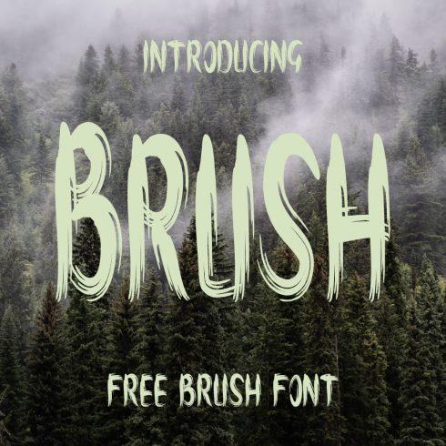 Amazing brush font free Cover collage image by MasterBundles.