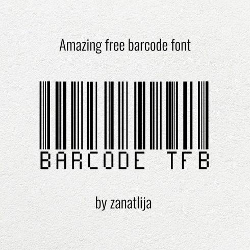 Main collage image by MasterBundles Amazing free barcode font.