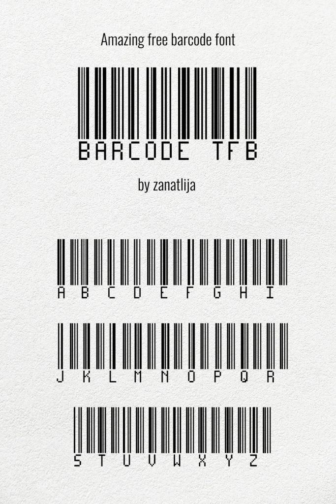 Pinterest free barcode font image MasterBundles.