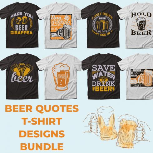 Trendy 20 Beer Quotes T-shirt Designs Bundle by MasterBundles.