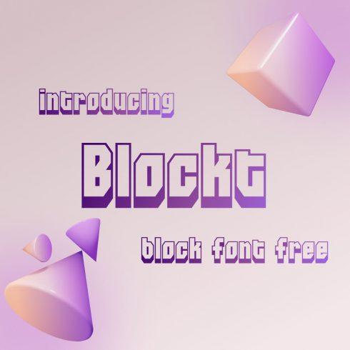 Cover image Blockt block font free by MasterBundles.