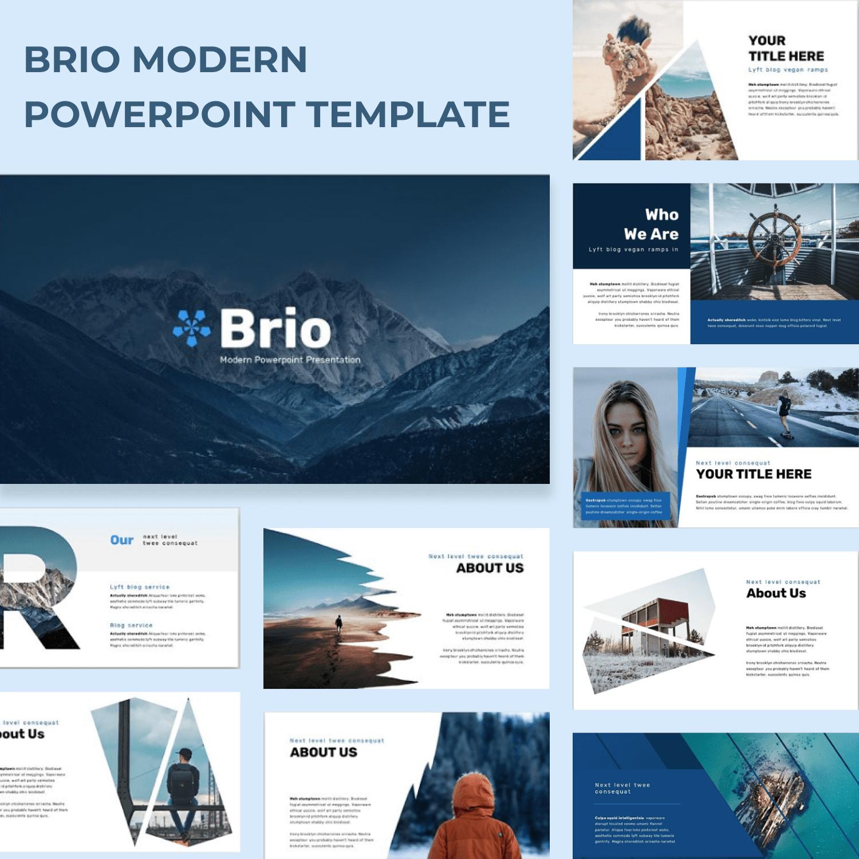 Brio Business Powerpoint Template by MasterBundles.