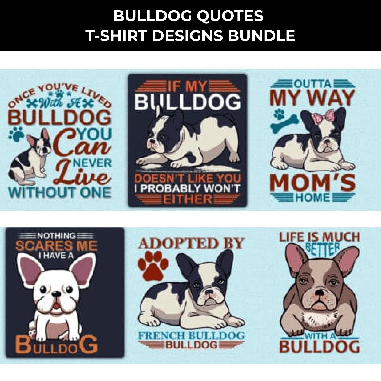 Trendy 20 Bulldog Quotes T-shirt Designs Bundle by MasterBundles.