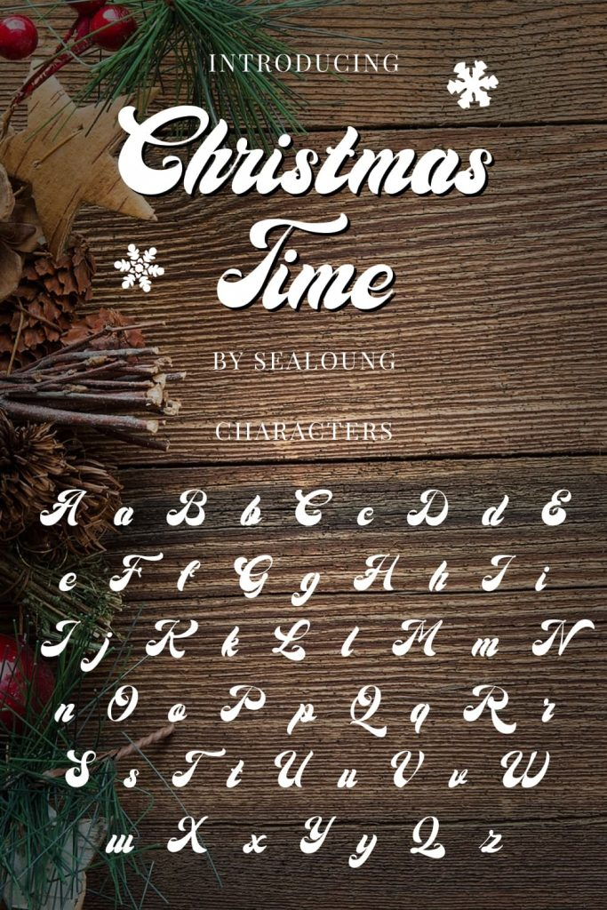 Christmas Time Font Pinterest Collage Image Characters by MasterBundles.