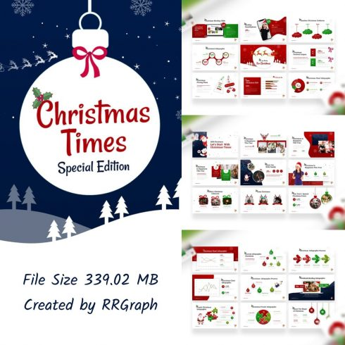 Christmas Times PowerPoint Template by MasterBundles.
