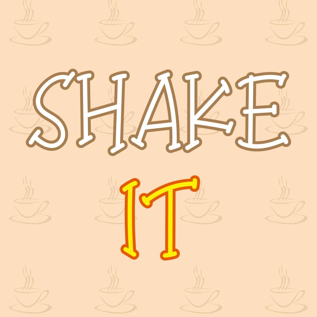 Example pharse for Cool Playful Coffee Milkshake font free.