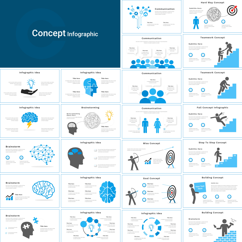 Concept Infographic Presentation: Powerpoint, Keynote, Google Slides.