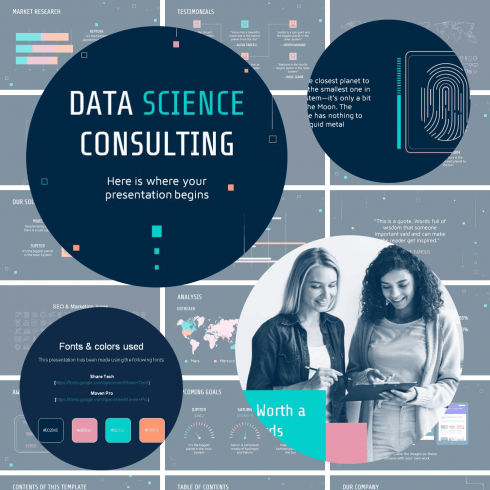 Main cover image for Data Science Consulting Presentation by MasterBundles.