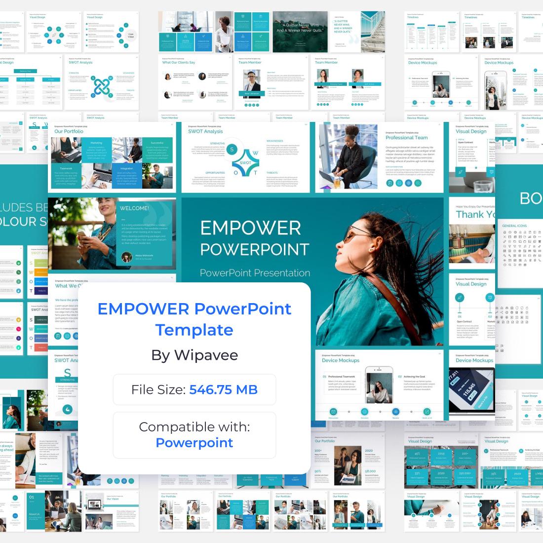 EMPOWER PowerPoint Template by MasterBundles.