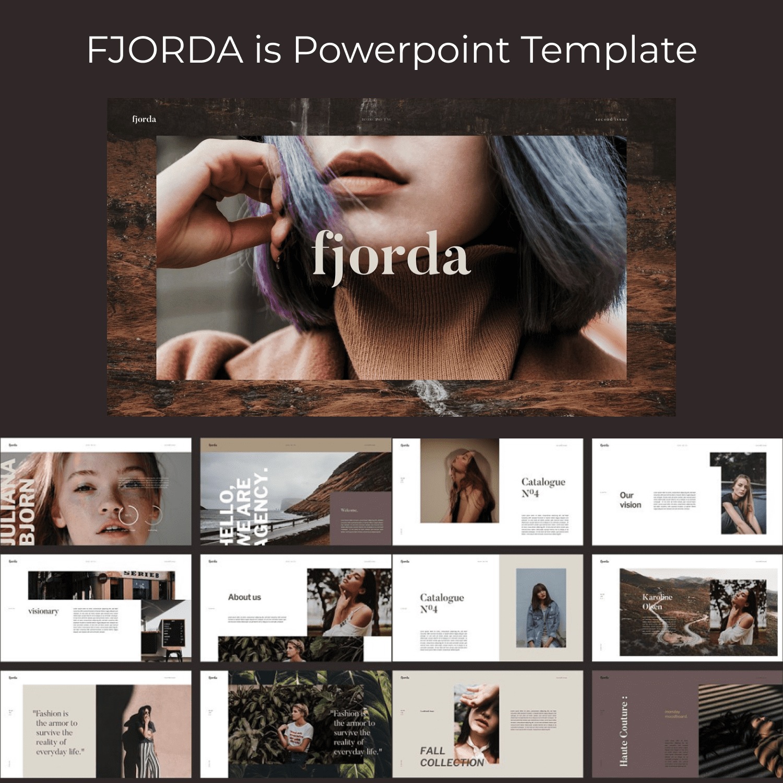 FJORDA - Powerpoint Template by MasterBundles.