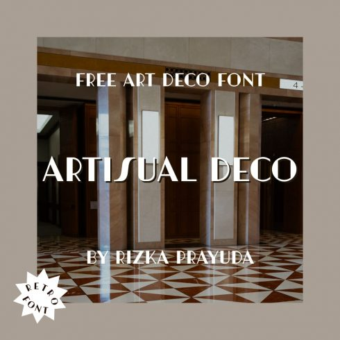 Main cover image Free art deco font Artisual Deco MasterBundles.