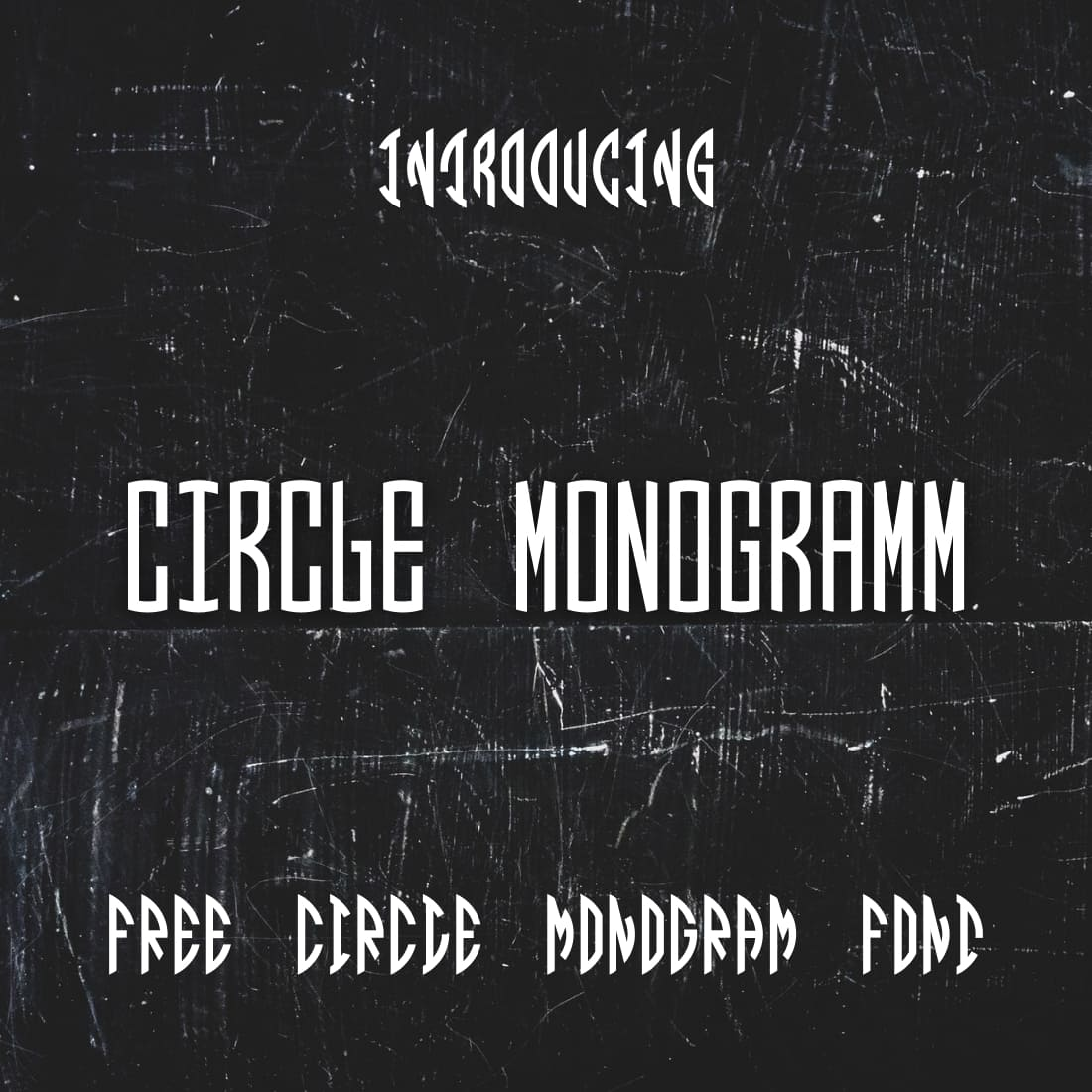 Main cover image for Free circle monogram font by MasterBundles.