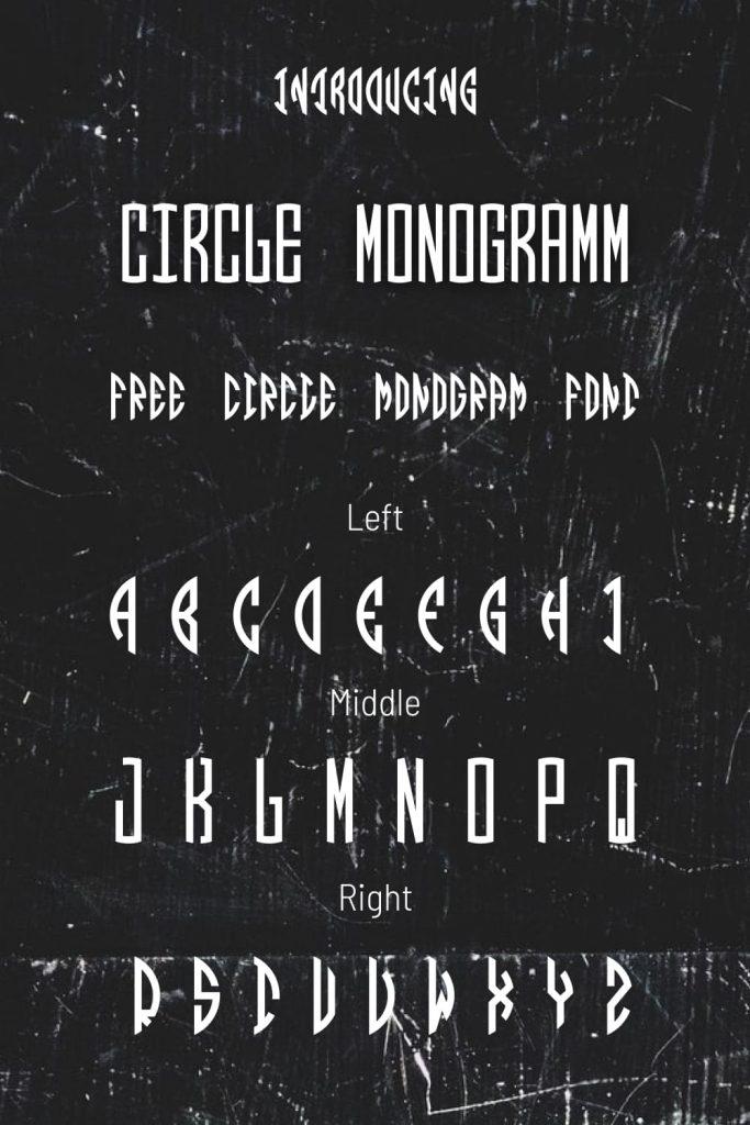 Pinterest alphabet example Free circle monogram font by MasterBundles.