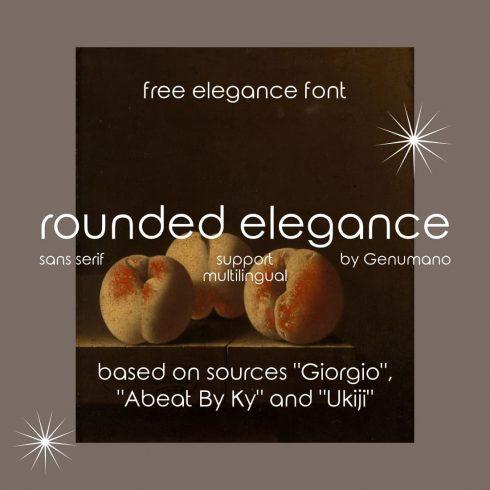 Main preview image Free elegance font by MasterBundles.