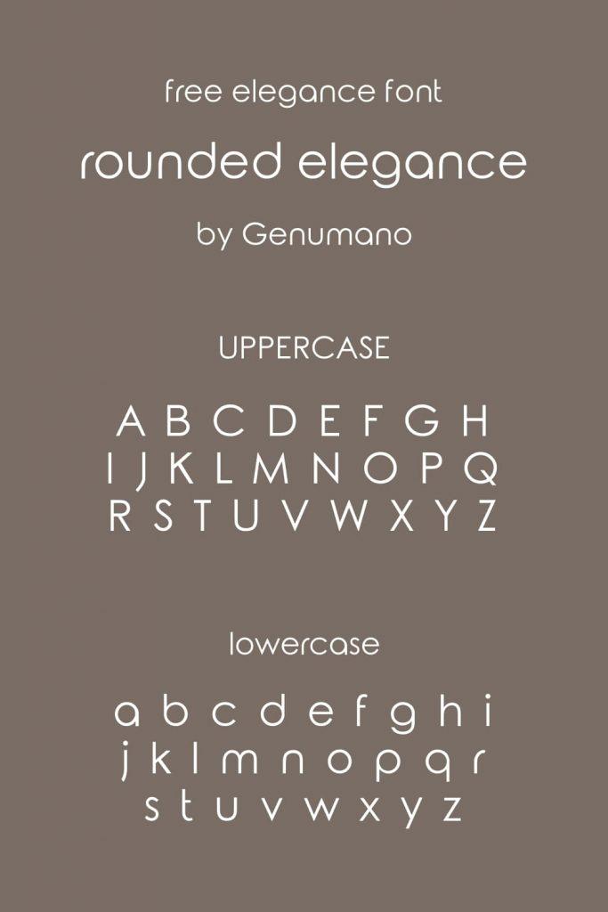 Pinterest alphabet preview image for Free elegance font MasterBundles.