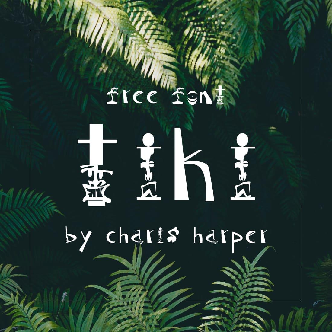 Main cover preview Free tiki font by MasterBundles.