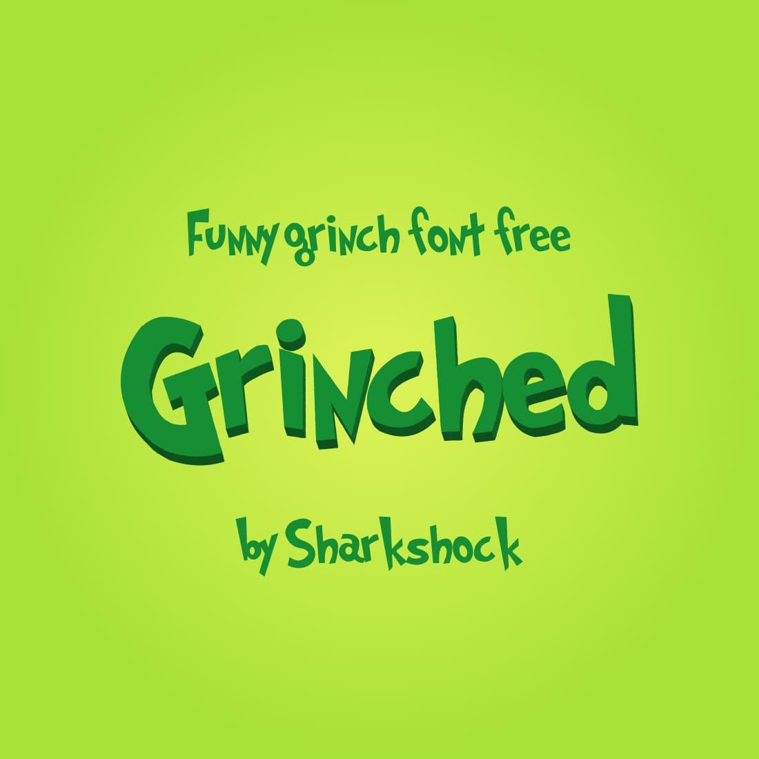 Main Image Funny grinch font free by MasterBundles.