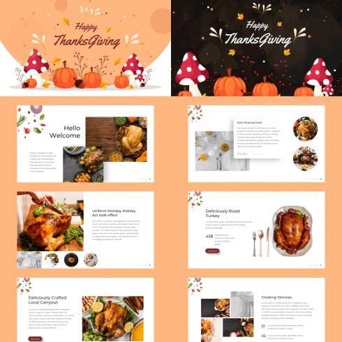 Thanksgiving Presentation: Powerpoint, Keynote, Google Slides