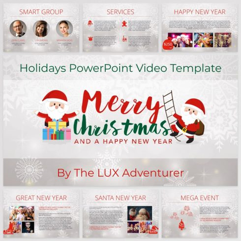 Holidays PowerPoint Video Template by MasterBundles.