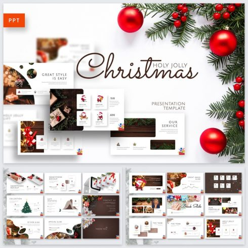 Holy Joly Christmas Template by MasterBundles.