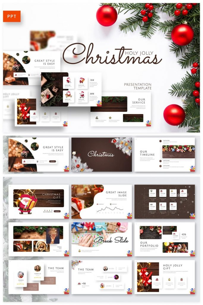 01 Holy Joly Christmas Template by MasterBundles Pinterest Collage Image.