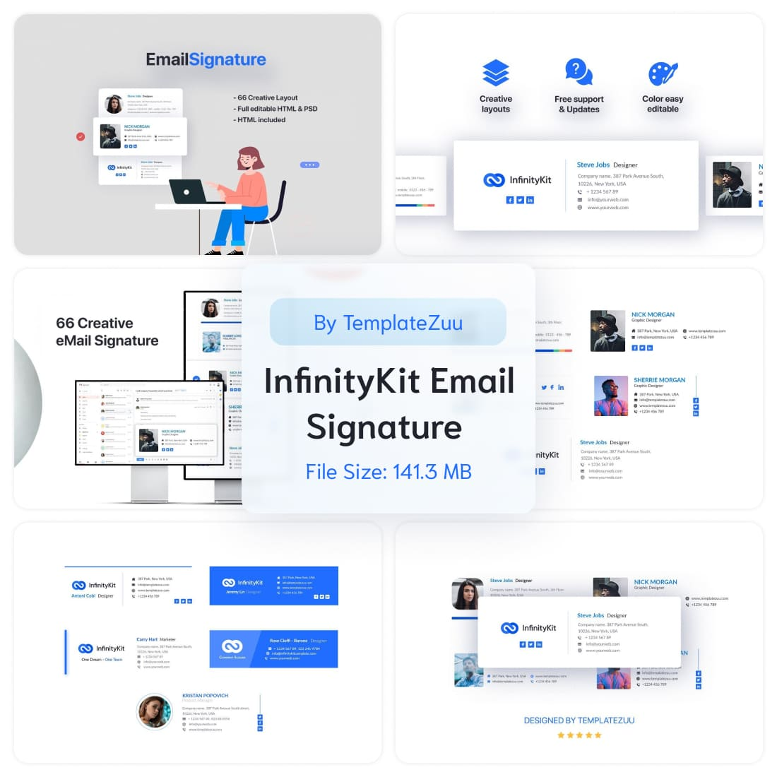 InfinityKit Email Signature v1.3 by MasterBundles.