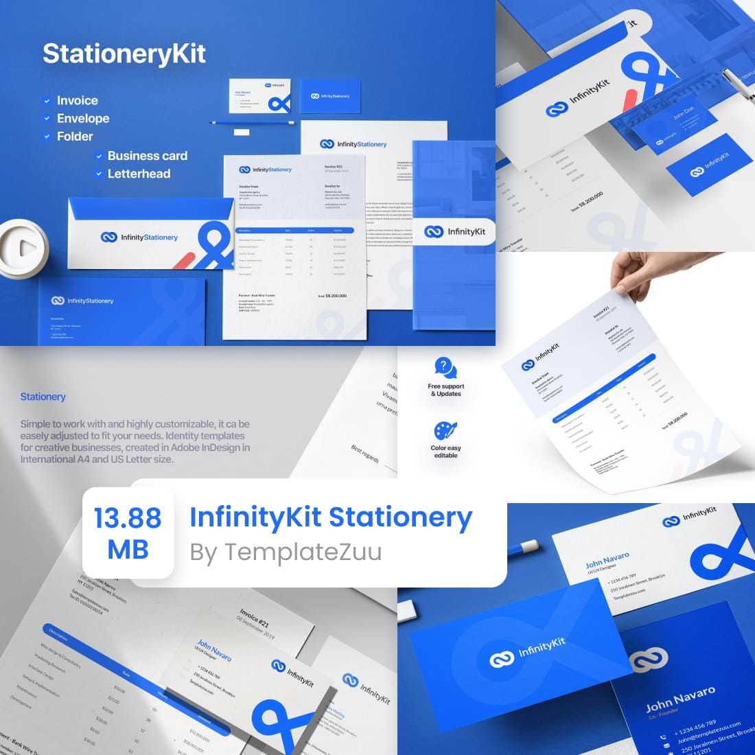 InfinityKit Stationery by MasterBundles.
