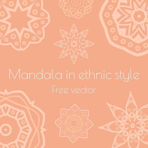 Main cover image for Mandala in ethnic style Free Vector MasterBundles.
