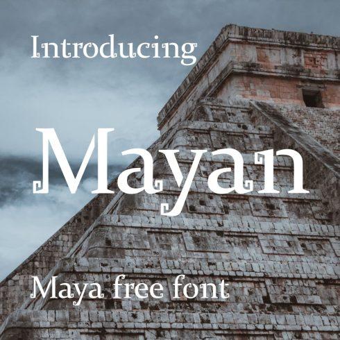 Mayan Typography - maya free font Collage image preview by MasterBundles.