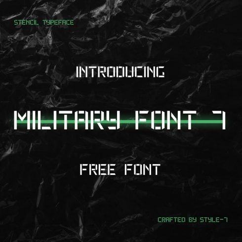 Cover image for free military font by MasterBundles.