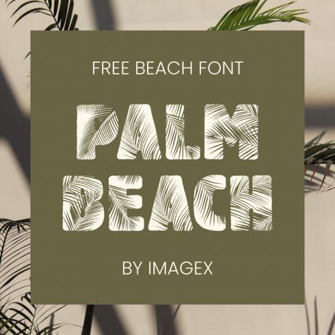 Main cover image for Palm Beach - free beach font by MasterBundles.