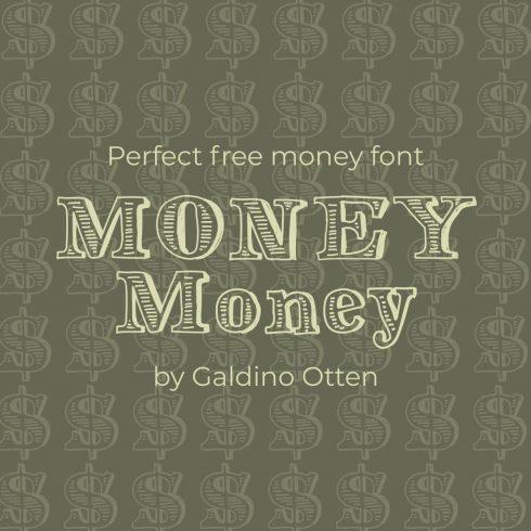 Free money font Main Cover Image by MasterBundles.