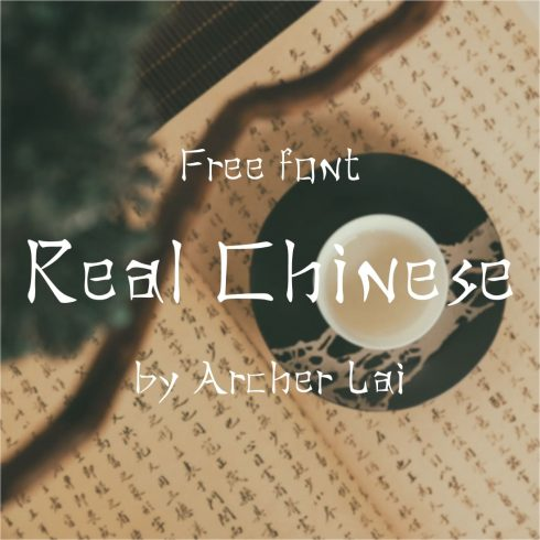 Main preview for Real Chinese Free Font by MasterBundles.