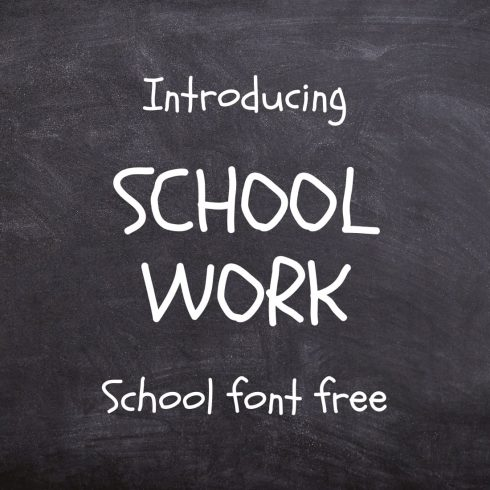 Schoolwork - school font free Main Collage Image preview by MasterBundles.