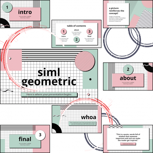 Main Cover preview image for Siml Geometric PowerPoint Template by MasterBundles.