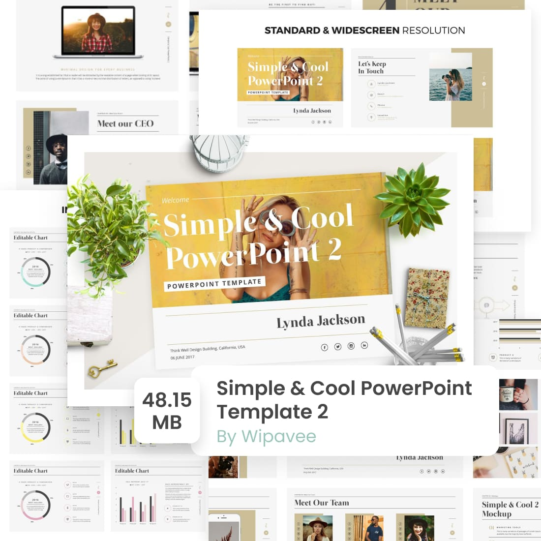 01 Simple Cool PowerPoint Template 2 1100x1100 1