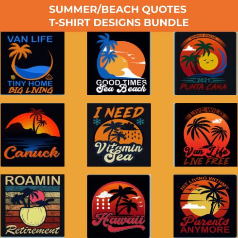 Summer Quotes T-shirt Designs Bundle by MasterBundles.