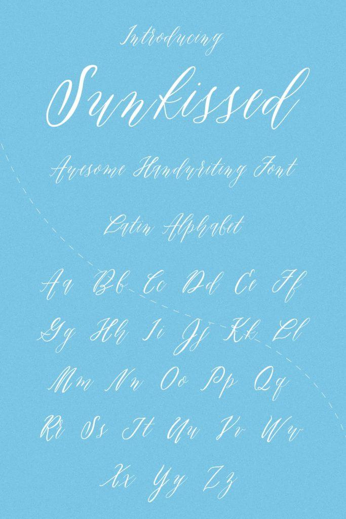 Sunkissed Awesome Handwriting Font Pinterest Alphabet Collage Image by MasterBundles.