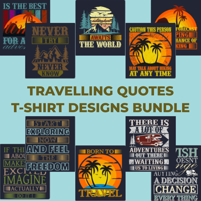 Trendy 20 Traveling T-shirt Designs by MasterBundles.