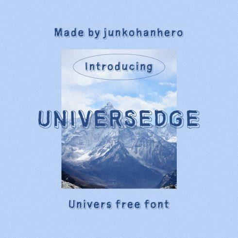Main cover collage image Universedge Free Font by MasterBundles.