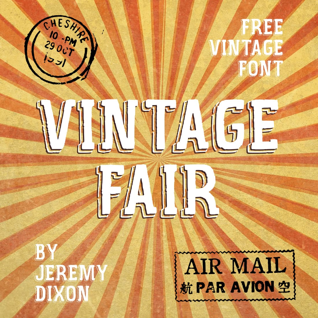 Main cover image Free Vintage Fair font MasterBundles.