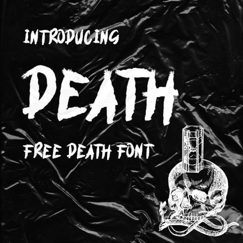 Cover Collage Image with death font free by MasterBundles.
