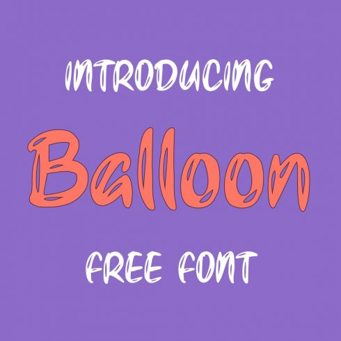 Main cover preview for cool free balloon font by MasterBundles.