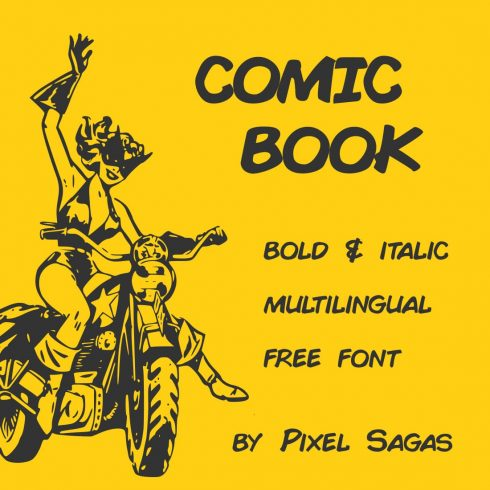 Main Collage image preview for Free comic book font by MasterBundles.