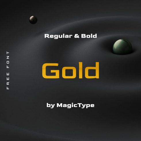 MasterBundles Main Cover image for Free gold font.