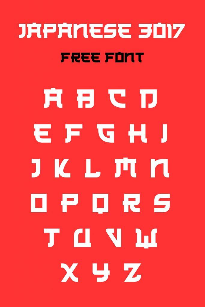 Alphabet Example free japanese font pinterest image by MasterBundles.