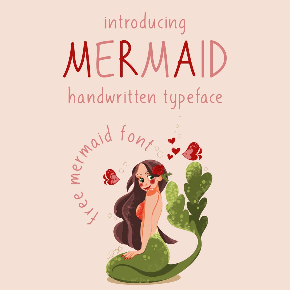 Main cover preview free mermaid font.