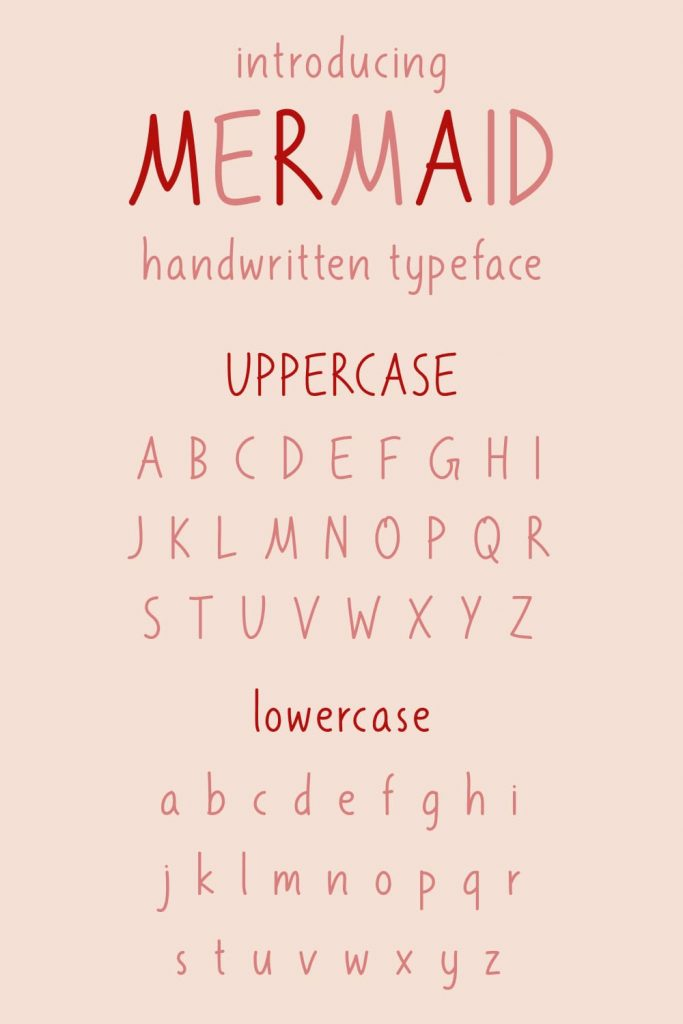 Pinterest Alphabet preview free mermaid font Pinterest by MasterBundles.
