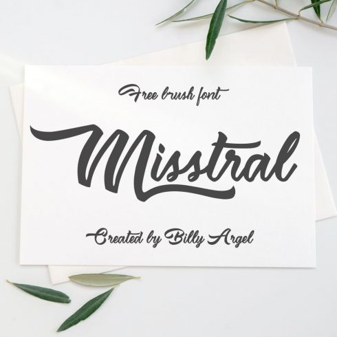Cover collage image for Brush mistral font free by MasterBundles.